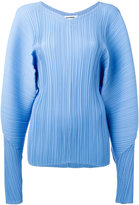 Jil Sander pleated V-neck blouse
