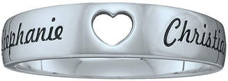 FINE JEWELRY Personalized Couples Names Cutout Heart Band Ring