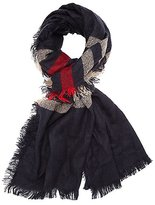 Charlotte Russe Fringed Striped Scarf