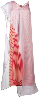 Chalayan Layer Stripe Dress