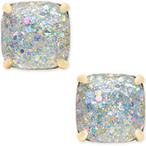 Kate Spade 14k Gold-Plated Glittery Purple Square Stud Earrings