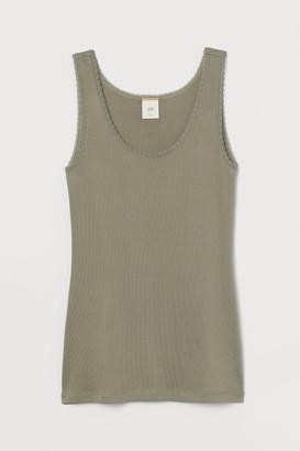 H&M Vest top with lace trims