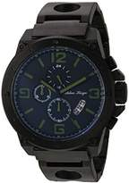 Adee Kaye Men's Quartz Stainless Steel Dress Watch, Color:Black (Model: AK8896MB-MGN)