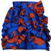 Stella Jean Ruffled printed cotton-toile shorts