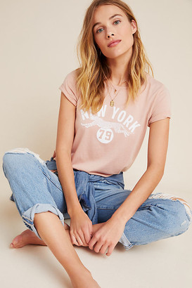 Back When New York Graphic Tee By Back When for Anthropologie in Pink Size XS