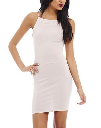 AX Paris Women's Special Occasion Dresses Beige - Beige Shoulder-Strap Bodycon Dress - Women