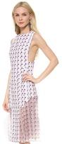 Thakoon Sleeveless Pleated Dress