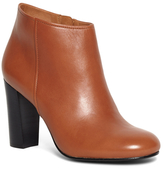 Brooks Brothers Short Leather Stacked Heel Booties
