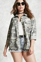 Forever 21 FOREVER 21+ Plus Size Camo Utility Jacket
