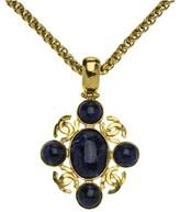 Chanel Black CC Logo Pendant Necklace