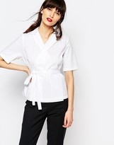 Just Female Gareth Wrap Front Shirt