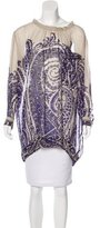 Dries Van Noten Sheer Printed Tunic