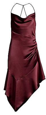 Parker Black Women's Edyth Asymmetric Satin Dress