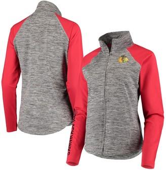 G Iii Women's G-III 4Her by Carl Banks Gray/Red Chicago Blackhawks Energize Full-Zip Jacket