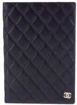 Chanel Lambskin Quilted Notebook