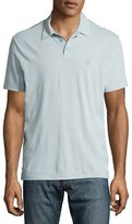 John Varvatos Soft-Collar Peace-Sign Polo Shirt, Light Blue