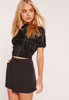 Missguided High Waisted Classic Skort Shorts Black