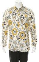 Maison Margiela Floral Print Button-Up Shirt w/ Tags