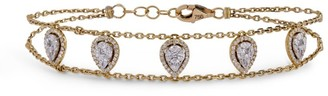Djula Yellow Gold And Diamond Precieuse Bracelet