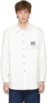 Raf Simons White Carry Over Denim Shirt