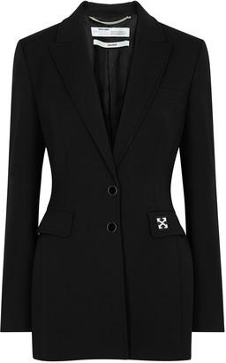 Off-White Black twill blazer