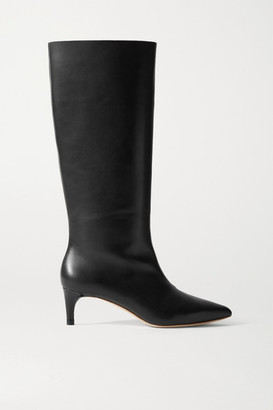 Loeffler Randall Gloria Leather Knee Boots - Black