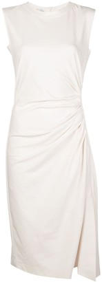 Brunello Cucinelli Ruched Mid-Length Dress