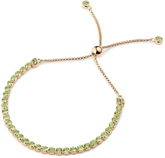 Tsai X Tsai Pinglin Peridot Bracelet Rose Gold Vermeil