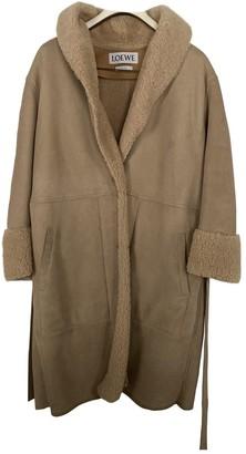Loewe Beige Shearling Coat for Women