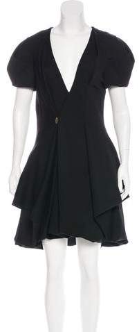 Alexander McQueen Wool Angels & Demons Dress