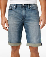 GUESS Men's Slim-Fit Binding Blue Shorts