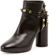 Balenciaga Studded Ankle-Strap 80mm Bootie, Noir