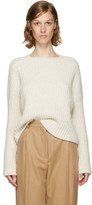 Carven Ecru Purl Stitch Crewneck Sweater