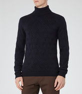 Reiss Martian Patterned Rollneck Jumper