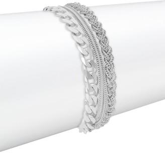 Emanuele Bicocchi Ice Sterling Silver Multi-Chain Bracelet
