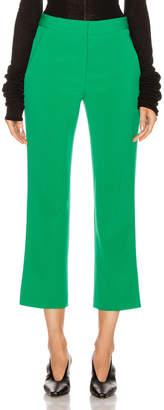 Stella McCartney Wide Leg Trouser in Sparkle Green | FWRD