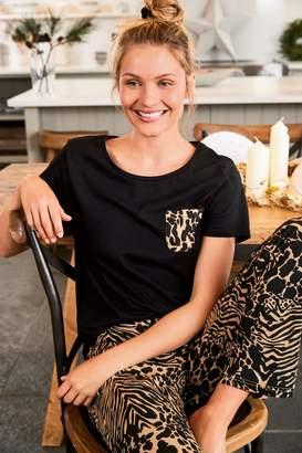 Next Womens Animal Cotton Blend Pyjamas - Brown