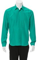 Burberry Pleated Silk Shirt