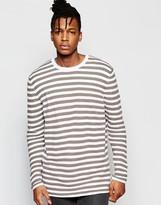 Asos Longline Stripe Sweater with Split Hem