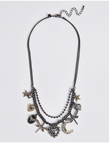 M&S Collection Dragonfly Multi Layered Necklace