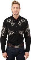 Roper 65P/35C Twill w/ Leafy Vines Embroidery 9628