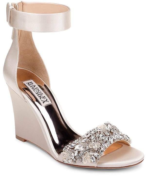 89a26dbaf5e Women's Lauren Crystal-Embellished Wedge Heel Sandals