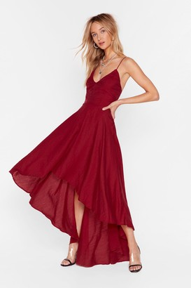 Nasty Gal Womens Rule the Dance Floor Lace-Up Dress - Red - 4