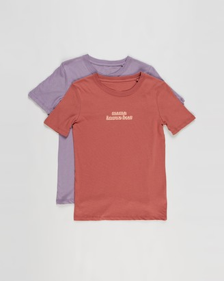 Cotton On Boy's Red Printed T-Shirts - 2-Pack Max Skater Short Sleeve Tee - Kids - Size 5 YRS at The Iconic
