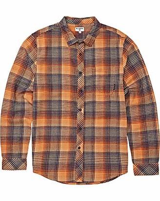 Billabong Men's Freemont Flannel Shirt Dark Blue 2XL