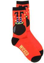 K. Bell Women's Wicked Crew Socks -Orange