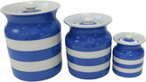 One Kings Lane Vintage English Cornishware Canisters, S/3