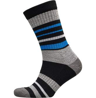 adidas Mens Striped Wool Golf Crew Socks Black