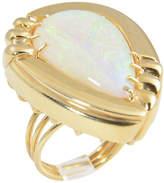 One Kings Lane Vintage 1970s Large Opal & Gold Statement Ring