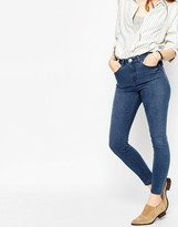 Asos Ridley High Waist Skinny Ankle Grazer Jeans in Florence Blue Wash